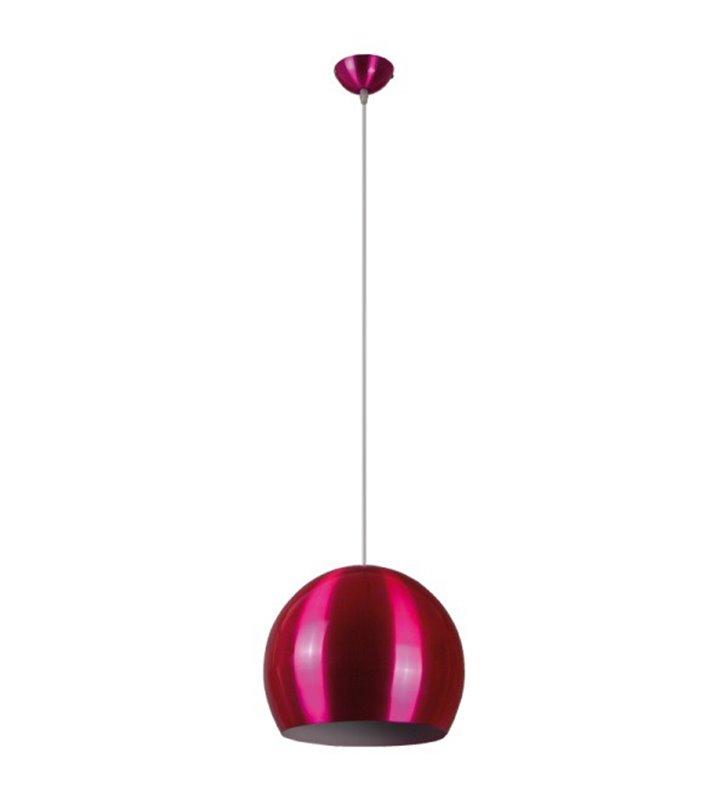 Lampa wisząca Kosmo różowa metalowa kula - DOSTĘPNA OD RĘKI