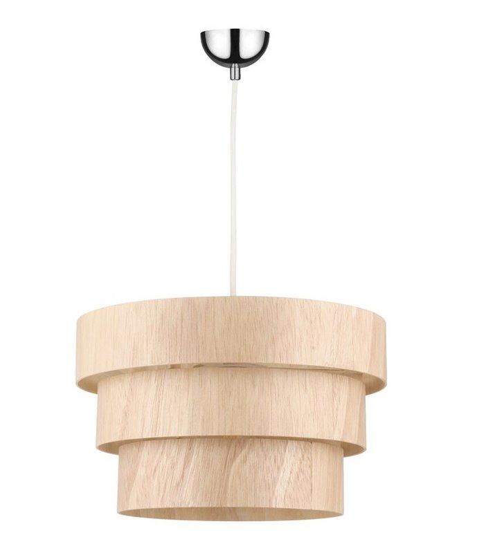 Lampa wisząca Kazuki Wood z drewna dębowego do jadalni kuchni salonu sypialni