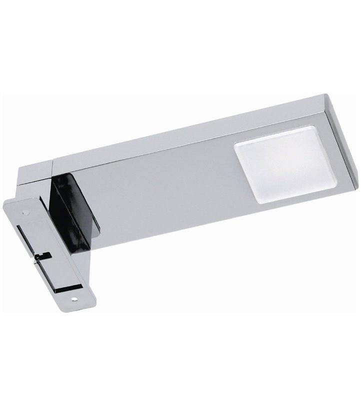 Kinkiet nad lustro łazienkowe w kolorze chrom Mega montaż na szafce lub na lustrze