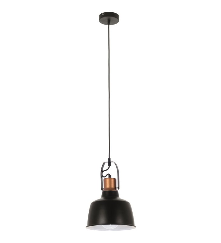 Lampa wisząca Herman czarna metalowa nowoczesna