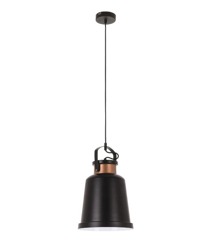 Czarna nowoczesna lampa wisząca Herman do kuchni jadalni salonu styl loftowy - DOSTĘPNA OD RĘKI