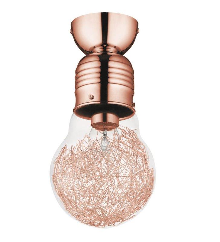 Lampa sufitowa Bulb w kształcie żarówki kolor miedziany