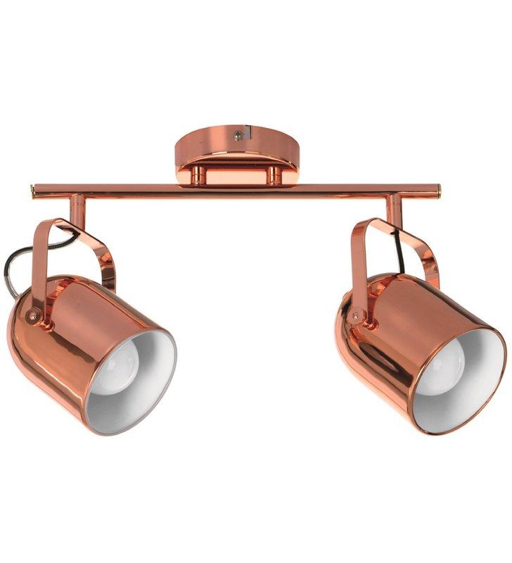 Metalowa podwójna lampa sufitowa Inga w kolorze miedzianym