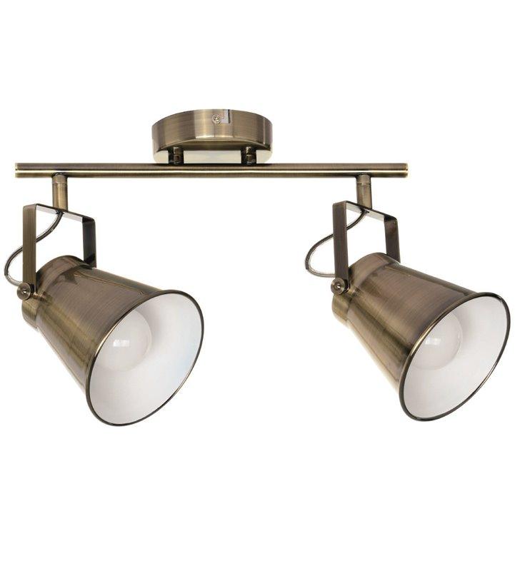Patynowa lampa sufitowa Tekla 2 punktowa metalowa