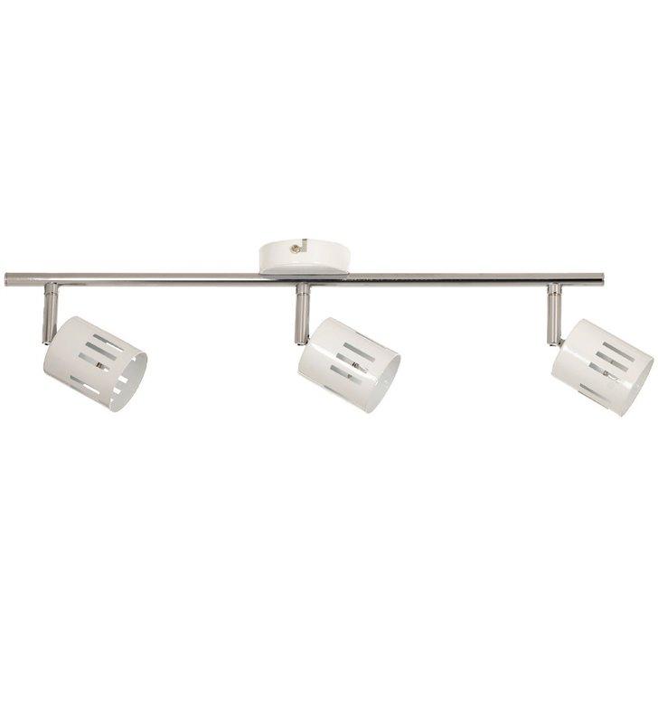 Lampa sufitowa Ulrika potrójna biała metalowa nowoczesna