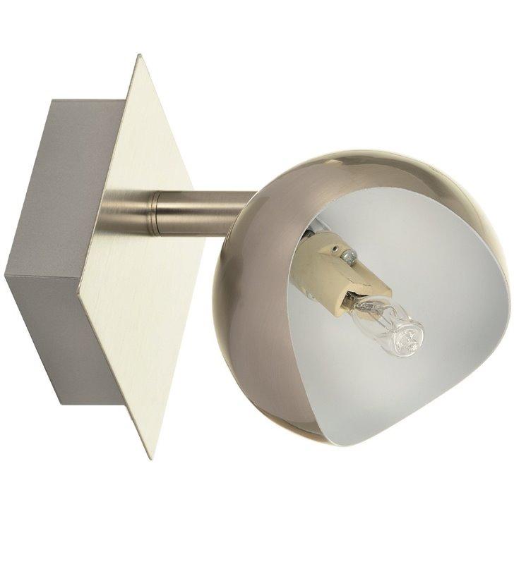 Nowoczesna lampa ścienno sufitowa Kumi kolor satyna klosz od wewnątrz biały