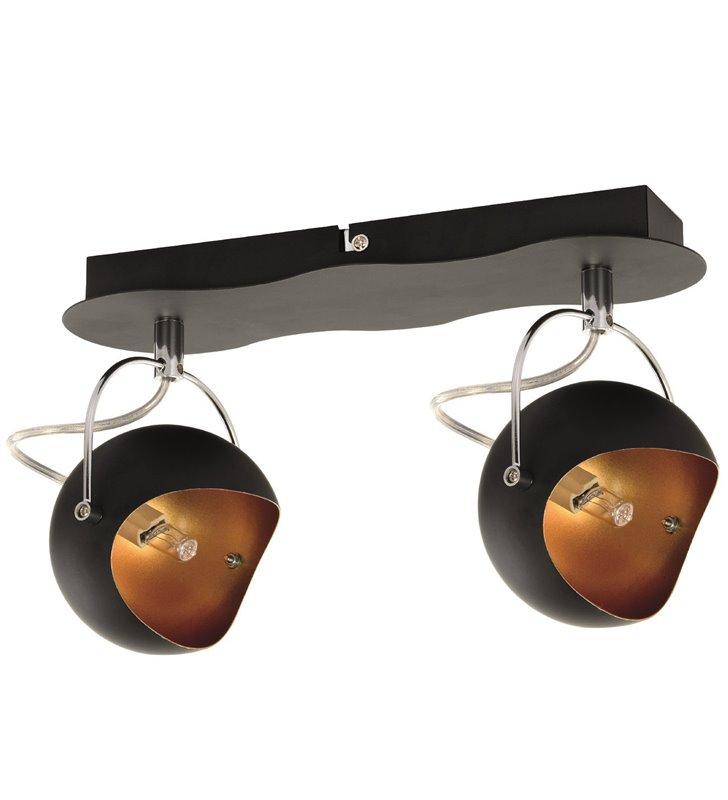 Lampa sufitowa Kana czarna nowoczesna z opływową podsufitką