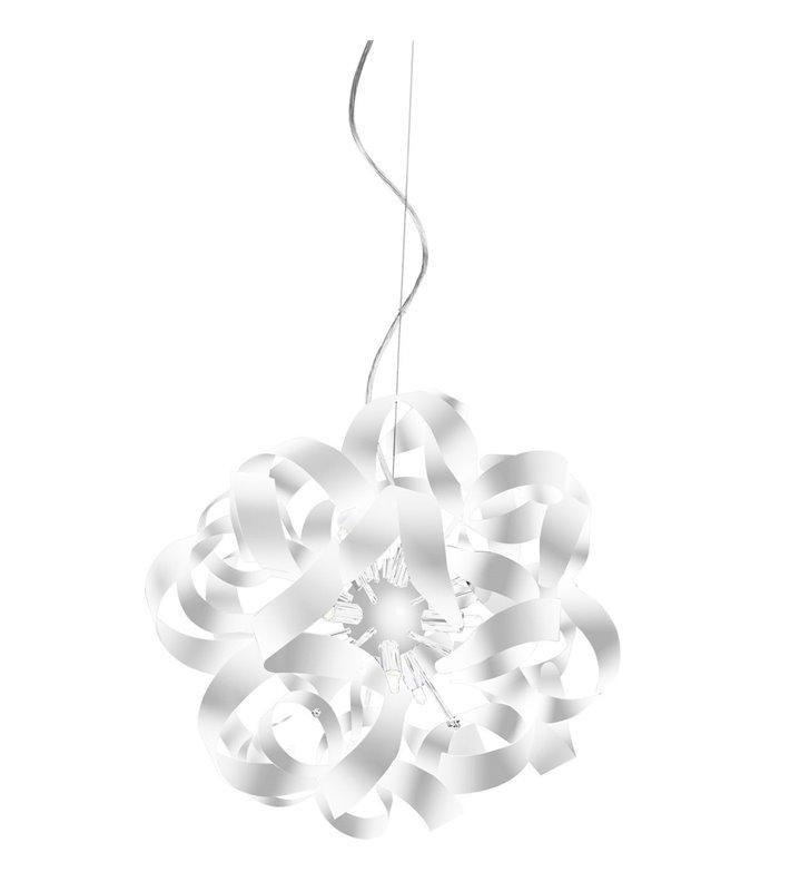 Metalowa biała lampa wisząca Delta