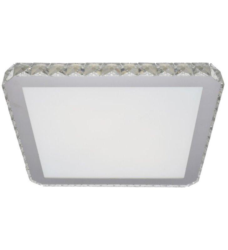 Stylowy kwadratowy plafon z kryształowym brzegiem Gallant 525 do sypialni salonu jadalni na przedpokój hol