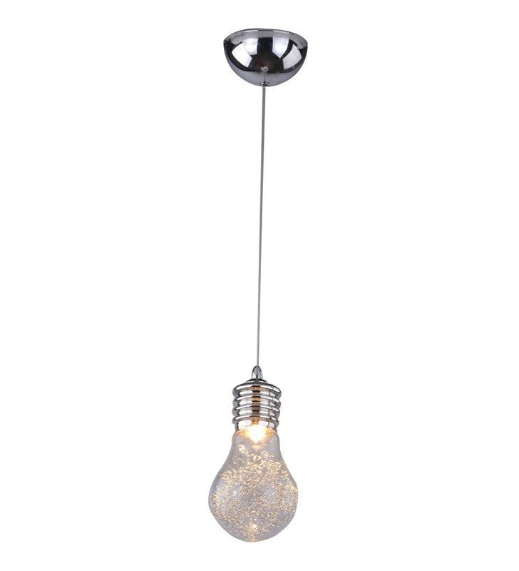 Lampa wisząca Otus pojedyncza jak żarówka wewnątrz klosza metalowe sprężynki