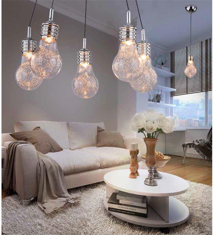lampy do salonu w kształcie zarowki