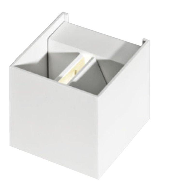 Kinkiet Leticia biała kostka z regulowanym strumieniem światła góra dół