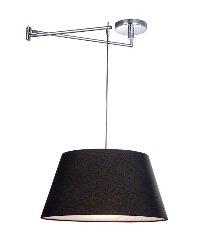 Lampa wisząca z ruchomym ramieniem Natalia czarny abażur do salonu jadalni kuchni sypialni - OD RĘKI