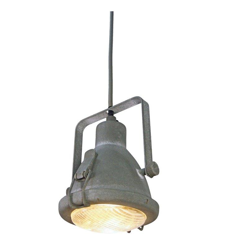 Lampa wisząca Tobruk w kolorze betonu w surowym industrialnym stylu