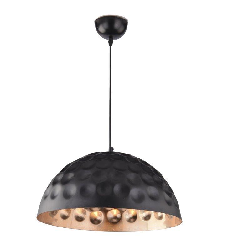 Lampa wisząca Jim metalowa czarna z miedzianym środkiem