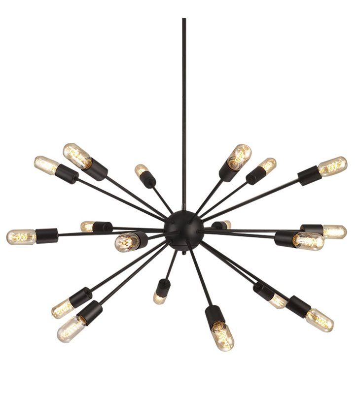 Wielopunktowa nowoczesna czarna lampa wisząca Orbit