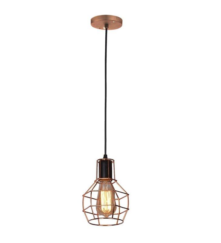 Lampa wisząca Carron metalowa miedziana styl vintage pojedyncza