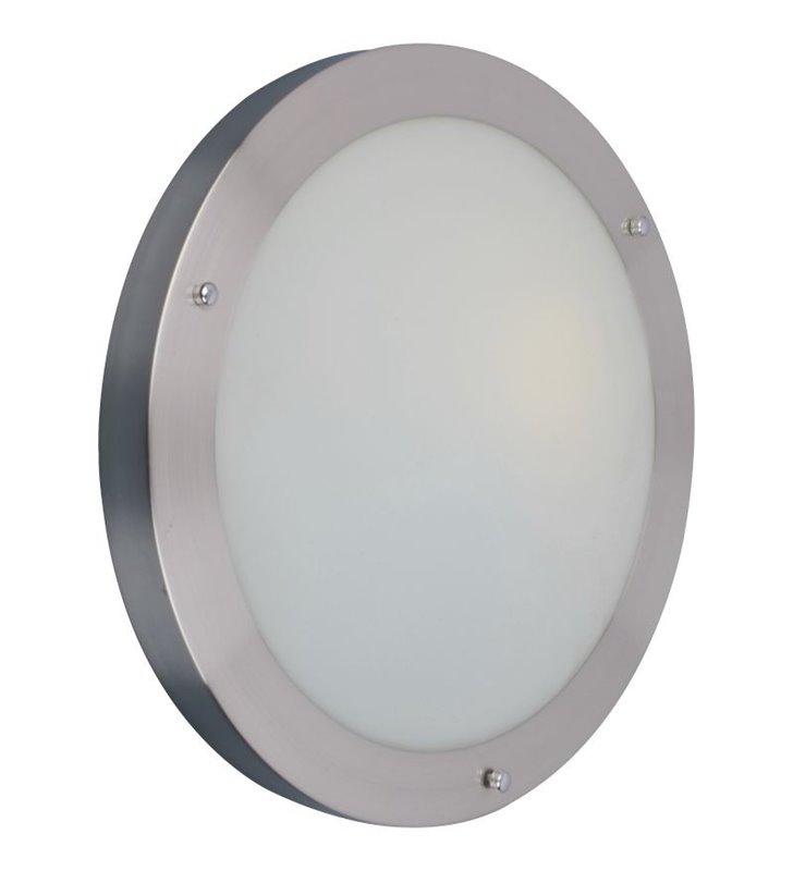 Plafon łazienkowy Umbra 310 okrągły w kolorze aluminium