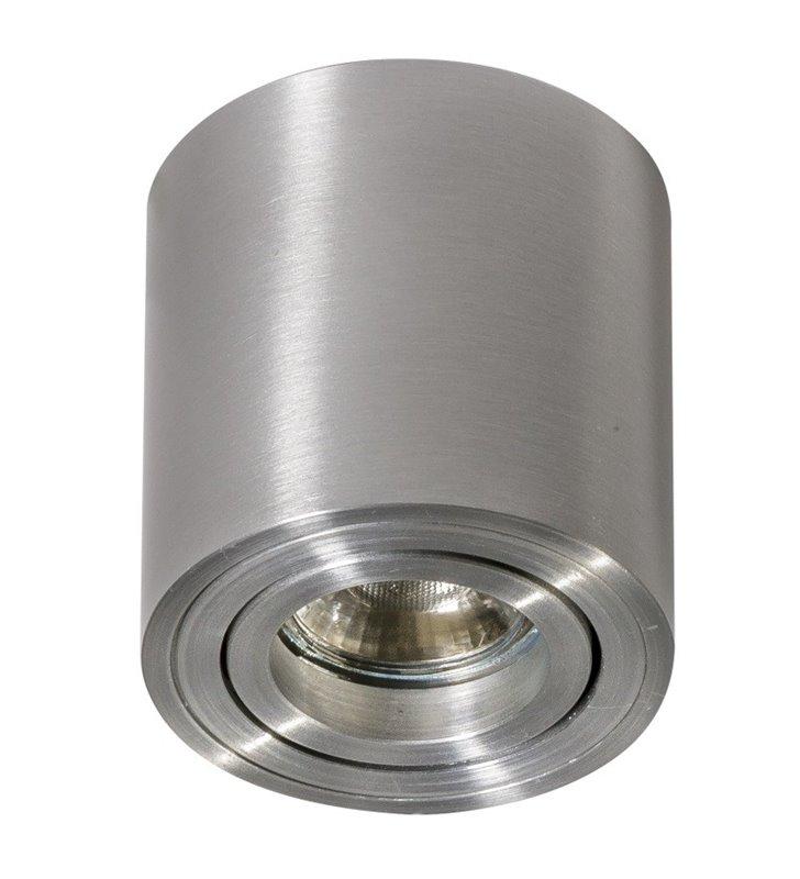 Lampa downlight Bross Mini w kolorze aluminium okrągła