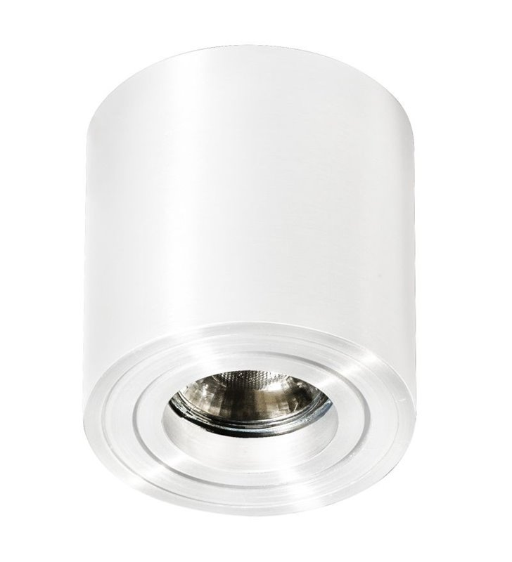 Bross Mini lampa sufitowa typu downlight biała walec