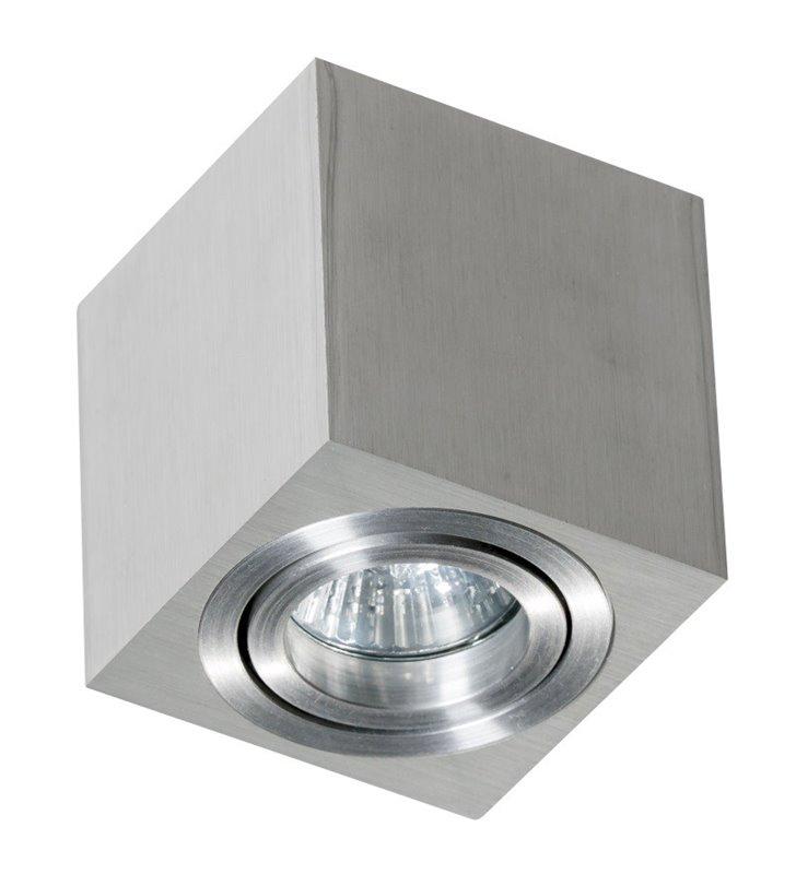 Kwadratowa lampa downlight Eloy Mini w kolorze aluminium