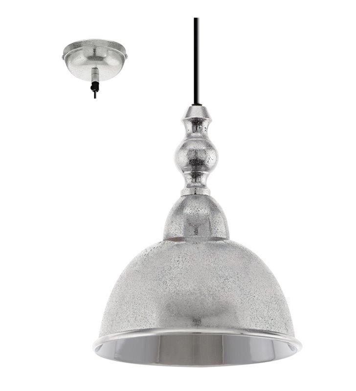 Lampa wisząca Easington metalowa w kolorze chrom styl vintage