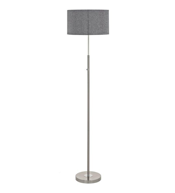 Szara lampa podłogowa Romao LED włącznik ze ściemniaczem dotykowym