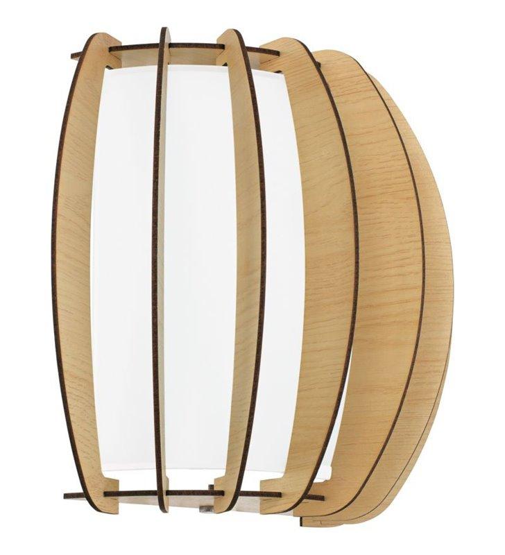 Kinkiet Stellato1 z drewna dodatkowy szklany klosz