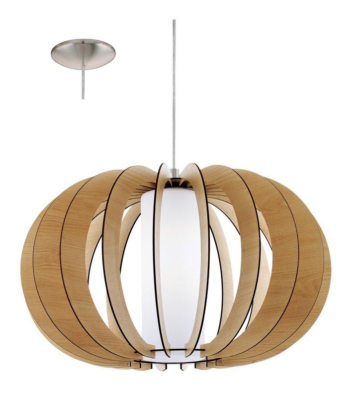 Drewniana okrągła lampa wisząca Stellato1 w kolorze klonu do salonu sypialni jadalni kuchni