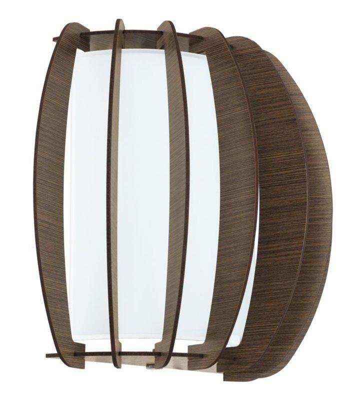 Drewniany brązowy kinkiet Stellato3 z dodatkowym szklanym kloszem