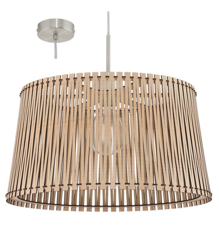 Drewniana lampa wisząca Sendero w kolorze klonu do kuchni jadalni salonu sypialni
