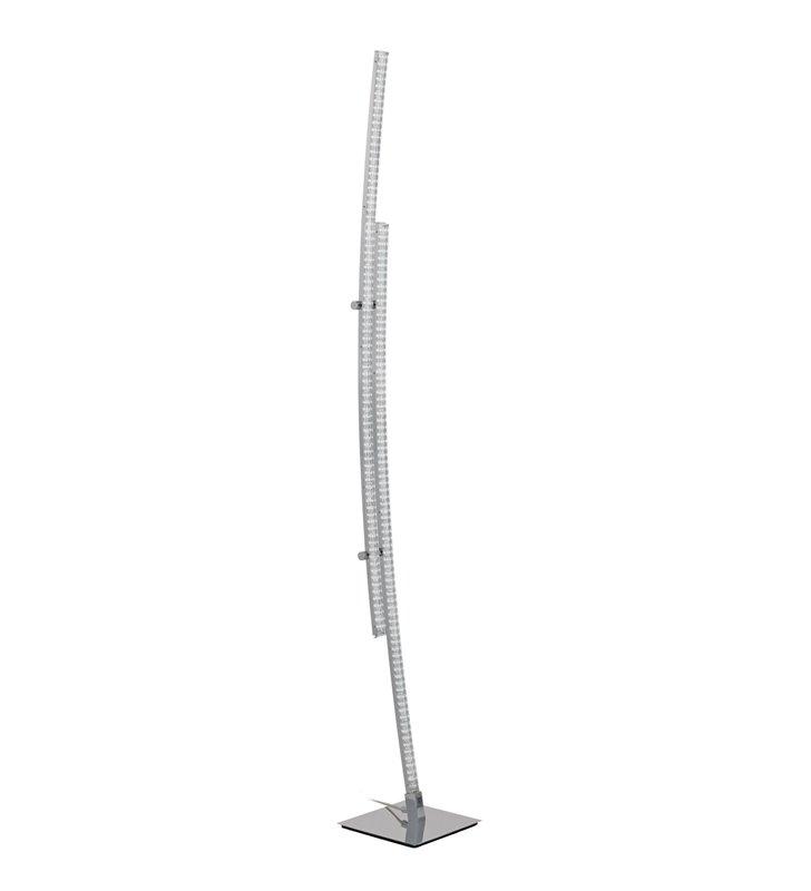 Lampa podłogowa Pertini nowoczesna LED wąska w kolorze chrom