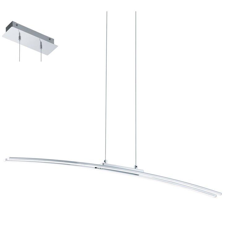 Podłużna lampa wisząca Lasana nowoczesna LED do biura jadalni kuchni salonu nad stół - OD RĘKI