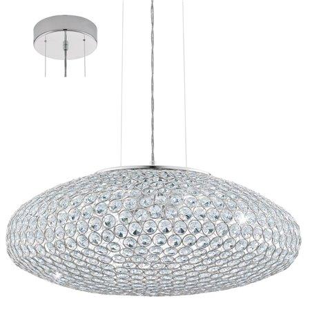 Kryształowa lampa zwisająca Clemente z drobnymi okrągłymi kryształkami