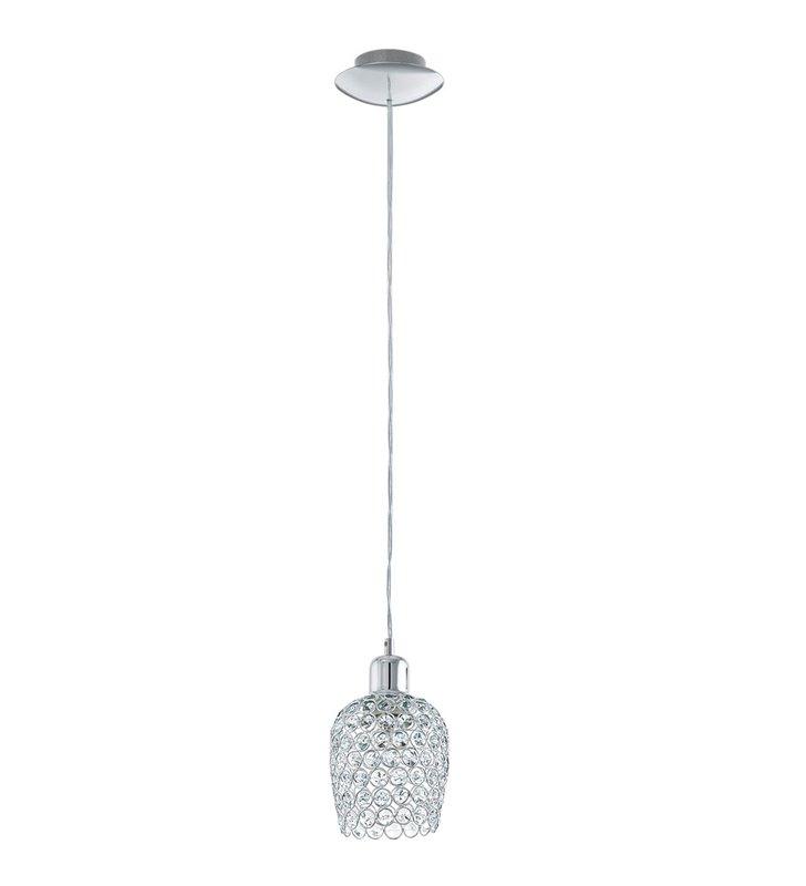 Mała kryształowa pojedyncza lampa wisząca Bonares1