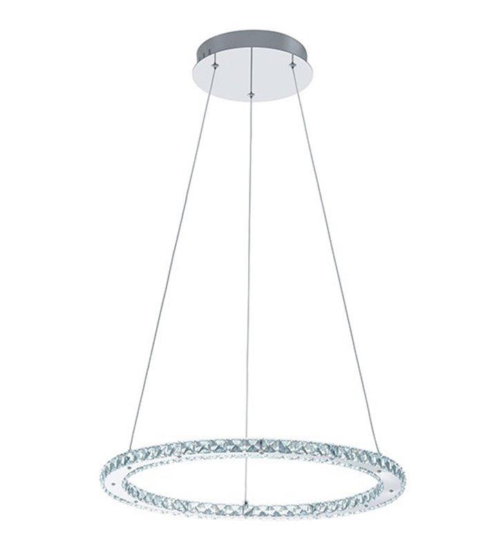 Kryształowa wisząca obręcz Varrazo LED