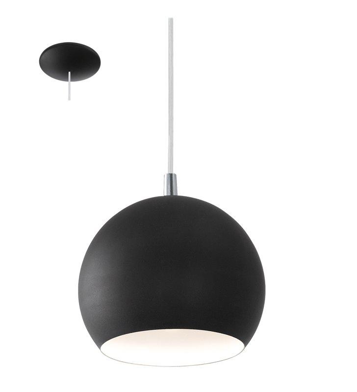 Czarna mała kula lampa wisząca Petto LED - DOSTĘPNA OD RĘKI