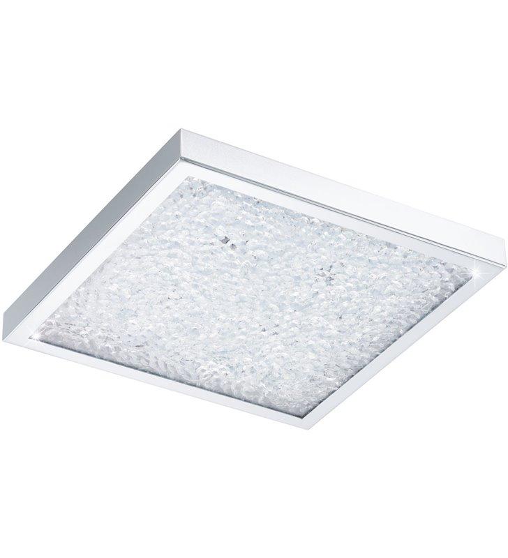 Kwadratowy plafon z bezbarwnymi kryształkami Cardito 320