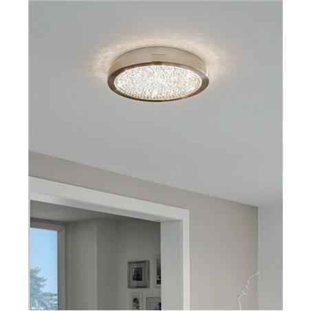 Plafon sufitowy LED Arezzo2 280 okrągły z kryształkami