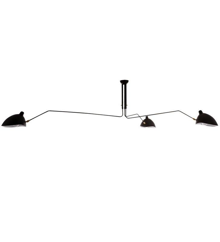 Duży czarny designerski żyrandol lampa sufitowa potrójny Davis