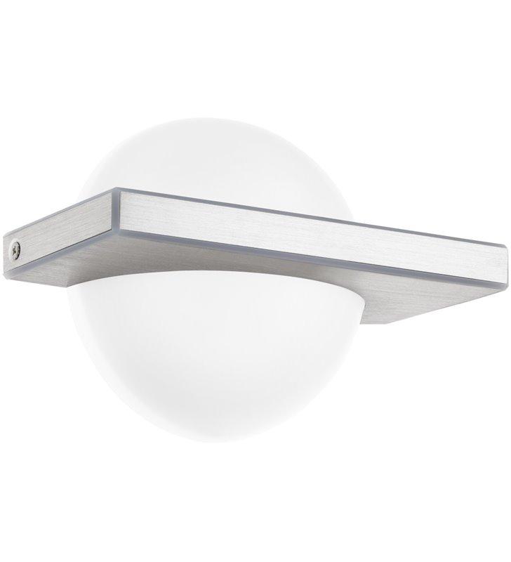 Kinkiet Boldo LED nowoczesny połączenie szczotkowanego aluminium z białym tworzywem