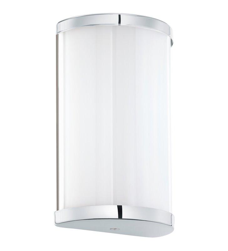 Lampa ścienna Cupella biały klosz z chromowanym wykończeniem
