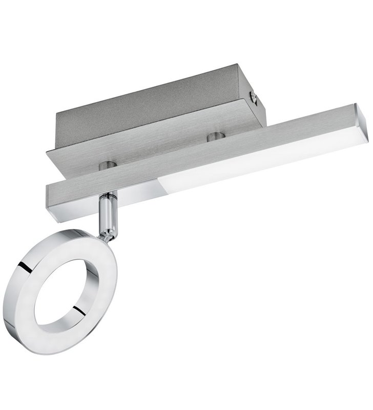 Lampa ścienno sufitowa Cardillio1 LED połączenie chromu z aluminium