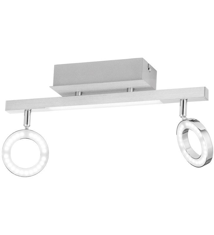 Lampa sufitowa podwójna nowoczesna Cardillio1 połączenie chromu z aluminium