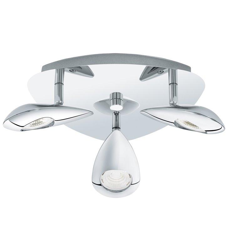 Lampa sufitowa Pedregal w nowoczesnym stylu LED chrom