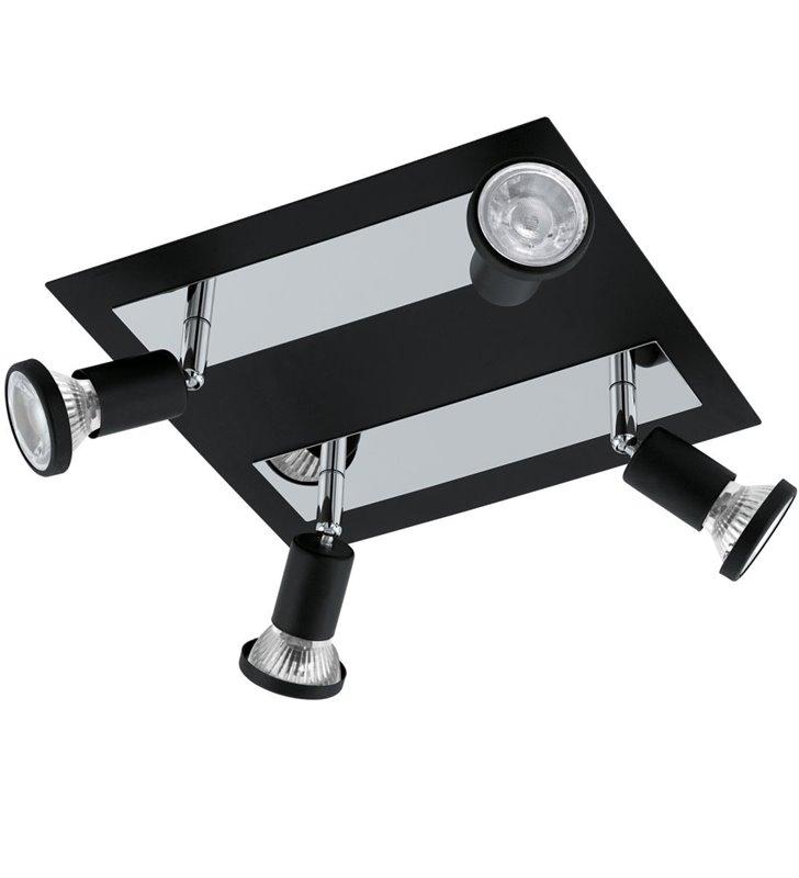 Sarria lampa sufitowa 4 punktowa czarna z chromowanym wykończeniem