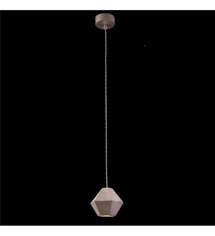 Lampa wisząca klosz betonowy kształt diament Geometric