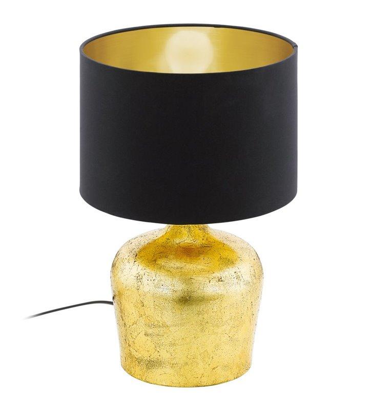 Lampa stołowa Manalba czarno złota