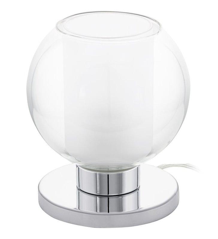 Lampa stołowa Karlo1 szklana kula na chromowanej podstawie