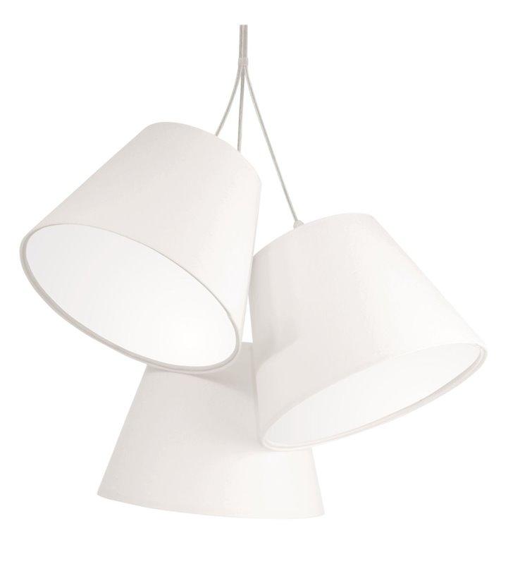 Lampa wisząca Ambrozja biała z trzema abażurami